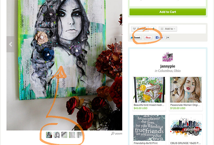 Sample of Pinning Dynamic Target Images With Custom Pinterest Buttons