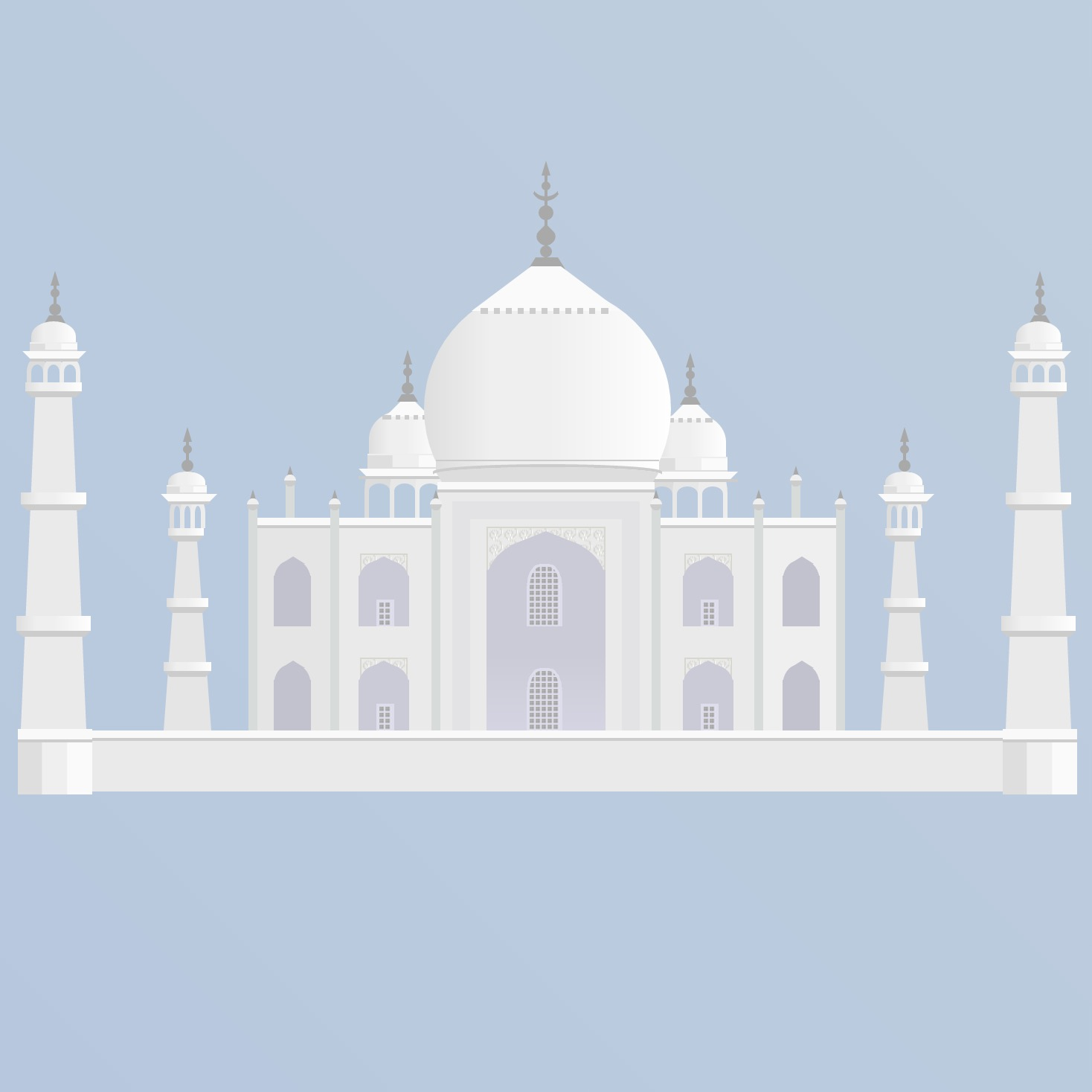 Sample of Pure CSS Taj Mahal